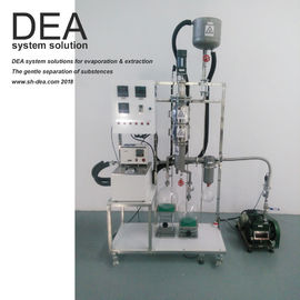 China Wiped Filming System Short Path Distillation Equipment 4000-12000 Ml / H Feed Amount supplier