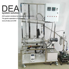 China Lab Scale Evaporation Machine 4-12 L / H Feed Amount For CBD Hemp Oil Or THC supplier