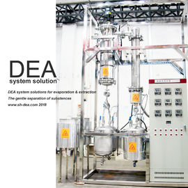 China Industrial Thin Film  Distillation  With Gear Motors And External Condenser factory