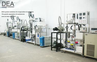 4 Stage Vacuum Distillation System / CBD Oil Fractional Short Path Distillation Equipment